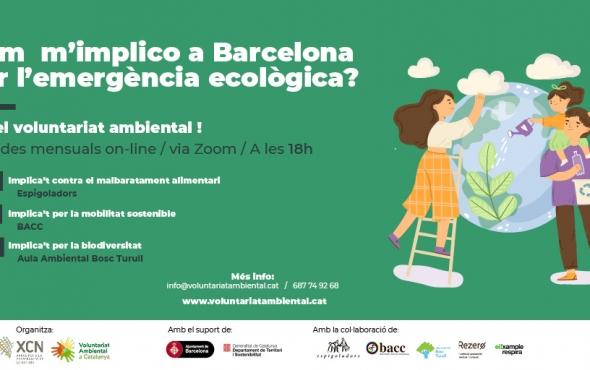Cartell xerrades voluntariat ambiental a Barcelona